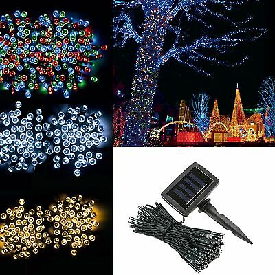 Solar Powered 100 200 LEDs String Fairy Tree Light Outdoor Wedding Party Xmas i