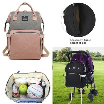 USB Large Capacity Baby Diaper Nappy Mummy Bag Waterproof Travel Backpack
