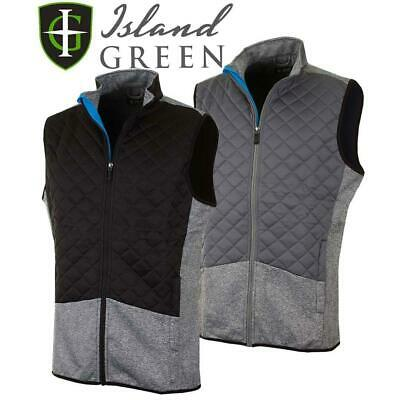Island Green 2019 Full Zip Lightweight Thermal Padded Gilet Mens Golf Vest