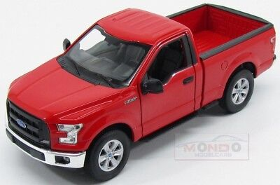 Ford Usa F-150 Regular Cab Pick-Up 2015 Red Welly 1:24 WE24063R Miniature