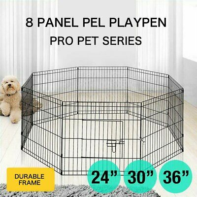 """24""""/30""""/36"""" 8 Panel Playpen Play Pen Pet Dog Puppy Exercise Cage Fence"""