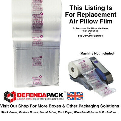 3 x 100mm x 200mm AIR PILLOWS REPLACEMENT ROLLS FOR PACPLAN AIRWAVE MACHINE