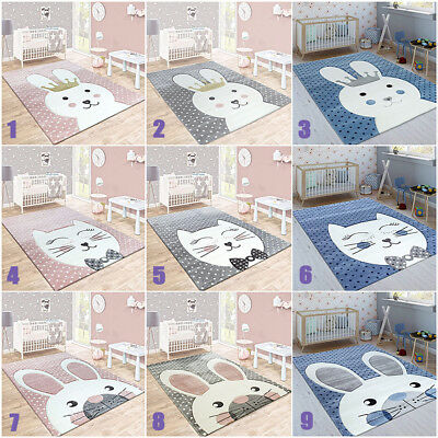 Kids Animal Rugs Nursery Unisex Girls Boys Bedroom Carpets Baby Mats Small Large