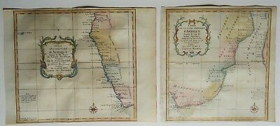 South Africa, Namibia, Mozambique, Tanzania...- set of 2 maps J.N. Bellin, 1750