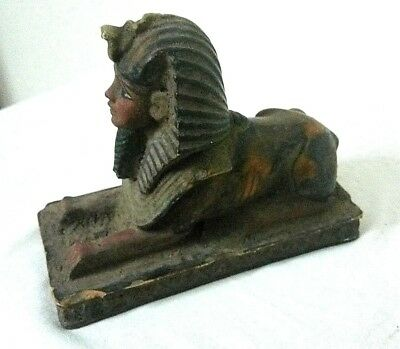 RARE ANCIENT EGYPTIAN ANTIQUE SPHINX Pharaohs Royal State Stone BC