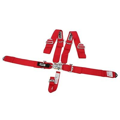Crow 11002 Bolt-In 5-Point Racing Harness, Pull Down, Red