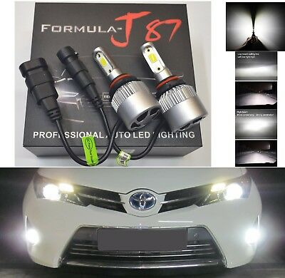 LED Kit N2 72W 9011 HIR1 6000K White Two Bulbs Head Light High Beam Upgrade Lamp