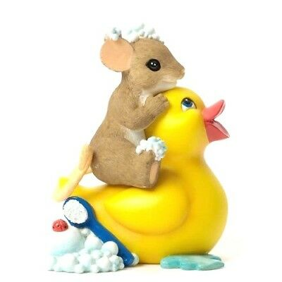 When It Comes To Friendship You Clean Up  CHARMING TAILS Mouse Figurine #4035264