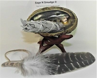 Abalone Shell, Tripod and White Sage Smudge Stick Kit for Smudging