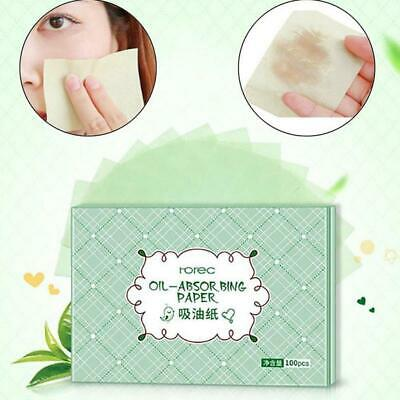 100x Facial Oil Control Absorption Sheets Tissue Face Blotting Paper Skin Grease