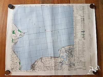 WW2 BRITISH ARMY MAP OF GERMANY - 2ND edition 1945 SHEET 1527 BARSBEK
