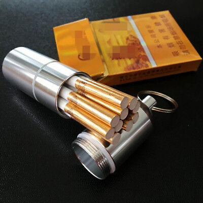 Novel Portable Metal Cigarette Case Mini Box Moisture-proof With Key Chain Tool