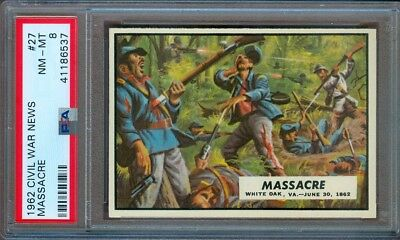 1962 Civil War News #27 Massacre Psa 8