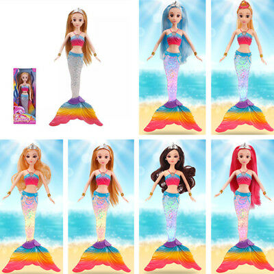 Mermaid Rainbow Light Up Music Mermaid Barbie doll Toy Kids Girls Toy Gift