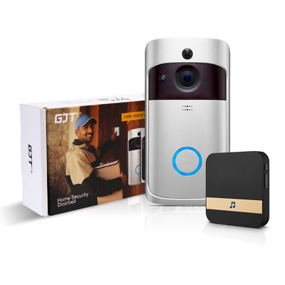 Smart Video Doorbell Wireless Anti-theft Truly Wire-free Camera Indoor Chime NEW