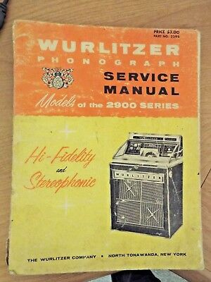 original wurlitzer 2900 series jukebox service repair manual rh picclick com wurlitzer 1015 jukebox repair manual rowe jukebox repair manual