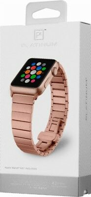 Platinum - Link Band Stainless Steel Watch Strap for Apple Watch42mm Rose Gold
