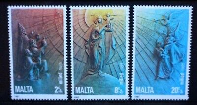 MALTA 1985 Christmas Terracotta Reliefs. Set of 3. Mint Never Hinged. SG769/771.