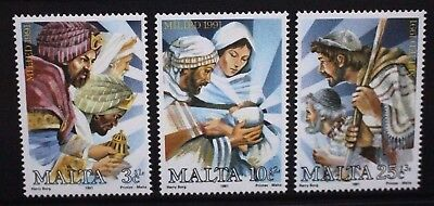 MALTA 1991 Christmas. Set of 3. Mint Never Hinged. SG902/904.