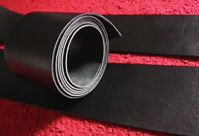 150cm long Very wide 100-200mm BLACK Veg Tanned Tooling LEATHER STRAP 2mm thick