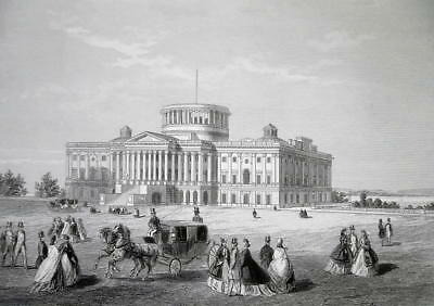 WASHINGTON DC Capitol Building Under Construction - CIVIL WAR Era Print