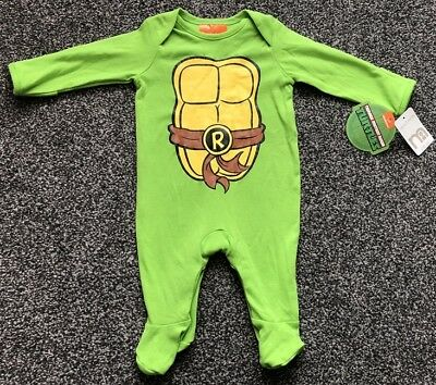 Teenage Mutant Ninja Turtle Baby Boy Babygrow Sleep Suit Up to 3M Mothercare NEW