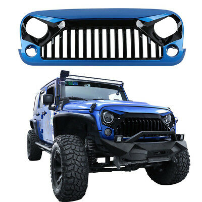 NEW Front Hydro Blue Gladiator Grille Grill For Jeep Wrangler 07-18 JK&Unlimited