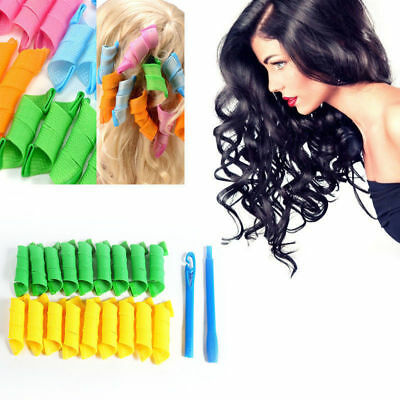 18 Pcs New Quality Hair Curlers Circle & Spirals Style Roller Tool DIY free POST