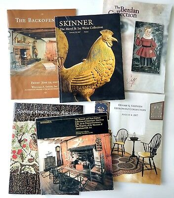 Lot 6 Antique Auction Catalog Set Cyr Northeast Sotheby's Skinner Smith Art Set