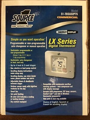 Source 1 S1-TBSU32P7S Programmable Commercial / Residential Thermostat 4H / 2C