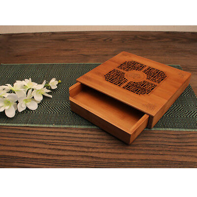 NEW Large Bamboo Reservoir Kung Fu Tea Table Serving Tray 14.75 x 10.25 x 2.5