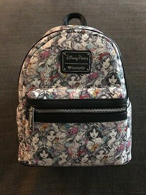 083ccfc1111 LOUNGEFLY DISNEY PRINCESS Disney parks Mini Backpack NWT RECEIPT SHOWN!