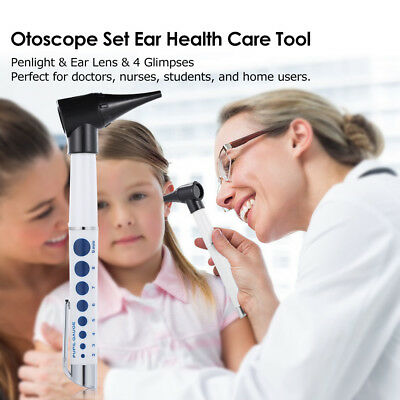 Professional Otoscope Set Diagnostic Medical Ear Eye Mouth Care Equipments S5Y6