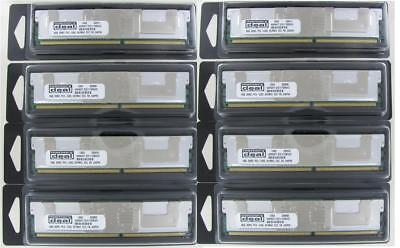 64Gb (8X8Gb) Kit Dell Precision Workstation 690 T5400 T7400 Ram Memory Fbdimm