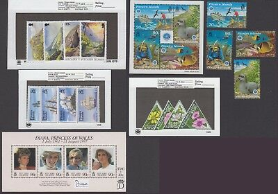 Pitcairn Is. - 1998 Commemorative Sets & S/S. Sc. #479-95a. SG #526-43. Mint NH