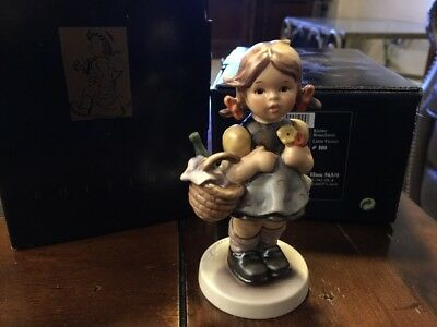 M.I. Hummel Figurine Little Visitor HUM 563/0 TM 7 NIB Goebel
