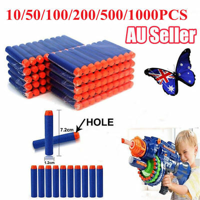 10-1000x Round Head Bullets Darts Blasters for Elite NERF N-Strike Toy Refill ON