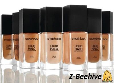Smashbox Liquid Halo HD Foundation Shade 4 Oil Free & Photo Finish SPF-15 NIB