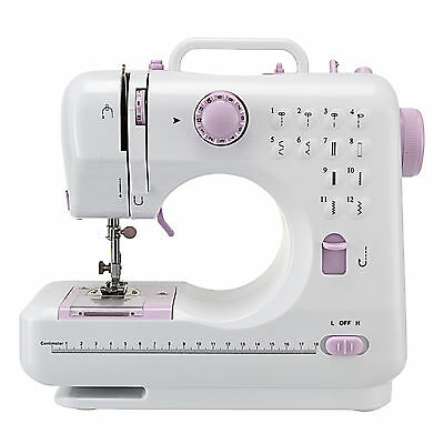 12 Stitches Multifunctional Electric Overlock Sewing Machine Household Tool AU