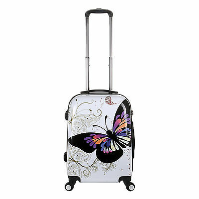 20inch Butterfly Design Luggage Trolley Case Cabin Carry On Hand Luggage Cabin