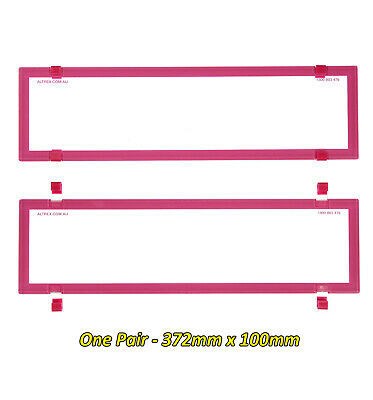 Number Plate Covers Slimline PINK Clear One Pair 6BCVSNL QLD VIC TAS SA WA NT
