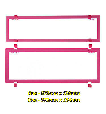 Number Plate Covers 6 Figure Slimline/Standard PINK Clear One Pair 6BCQSNL