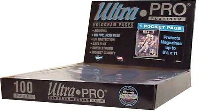 Ultra pro 1-Pocket Platinum Page With 8-1/0.6m X 3.4m Taschen 100 Ct