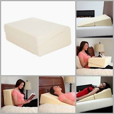 "Folding Wedge Memory Foam Pillow For Back Pain Pregnancy Discomfort Relief 31""L"
