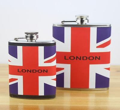 British England Flag Union Jack Stainless Steel Wine Bottle London Hip Flask