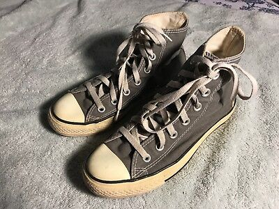 Converse All Star High Top Sneakers Womens Size 6 (Girls Size 4) Gray SC8