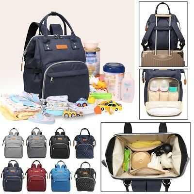 LEQUEEN Baby Diaper Bag Mummy Maternity Nappy Oxford Changing Backpack Large New