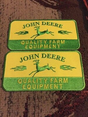 John Deere Quality Farm Equipment Patches  - (2)  Patches