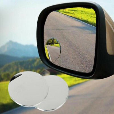 2pcs Wide Angle Round Convex Blind Spot Mirror For Car Auto Rear View Universal