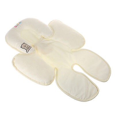 Baby Head Support Car Seat Stroller Infant Pillow Neck Travel Safety Body -Beige